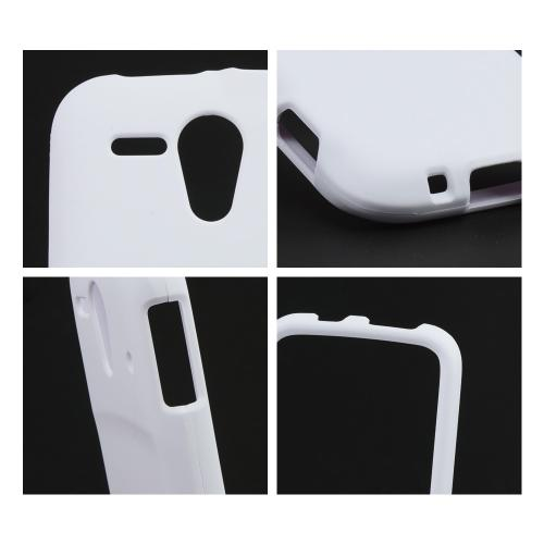 White Rubberized Hard Case for Kyocera Hydro Edge