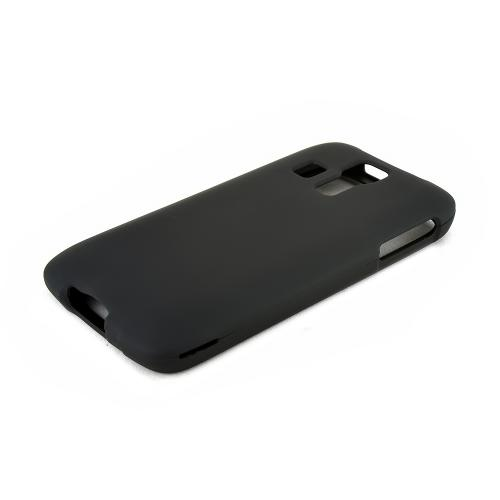 Black Kyocera Hydro Vibe Matte Rubberized Hard Case Cover; Perfect fit as Best Coolest Design Plastic cases