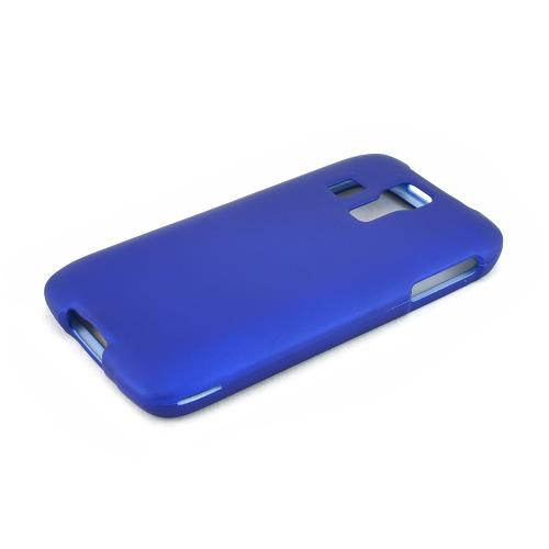Blue Kyocera Hydro Vibe Matte Rubberized Hard Case Cover; Perfect fit as Best Coolest Design Plastic cases
