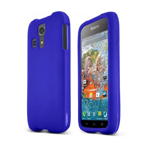 Blue Kyocera Hydro Icon Matte Rubberized Hard Case Cover; Perfect fit as Best Coolest Design Plastic cases