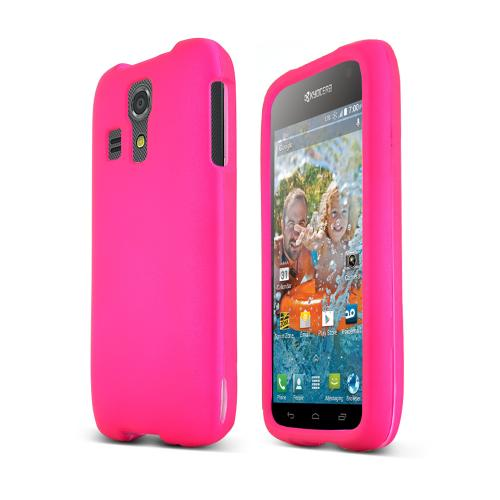Hot Pink Kyocera Hydro Icon Matte Rubberized Hard Case Cover; Perfect fit as Best Coolest Design Plastic cases