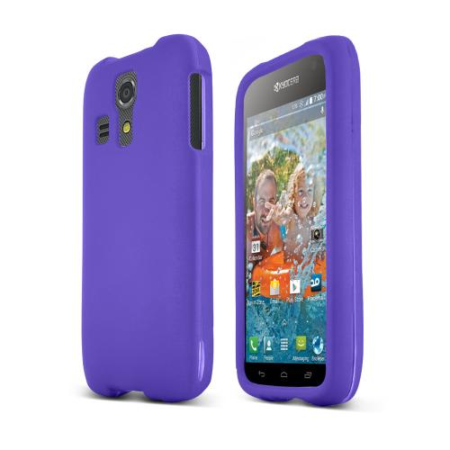 Purple Kyocera Hydro Icon Matte Rubberized Hard Case Cover; Perfect fit as Best Coolest Design Plastic cases