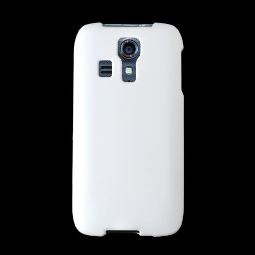 White Kyocera Hydro Vibe Matte Rubberized Hard Case Cover; Perfect fit as Best Coolest Design Plastic cases