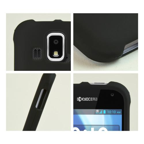 Black Rubberized Hard Case for Kyocera Hydro XTRM