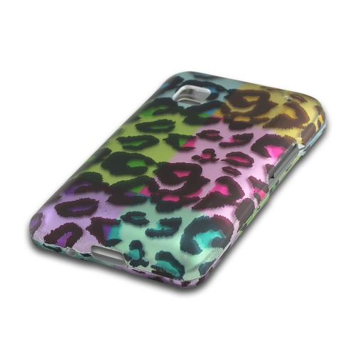 Multi-Colored Artsy Leopard Rubberized Hard Case for LG 840G