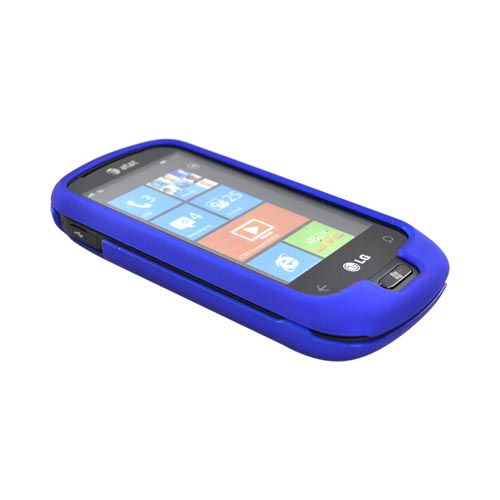 LG Quantum C900 Rubberized Hard Case - Blue
