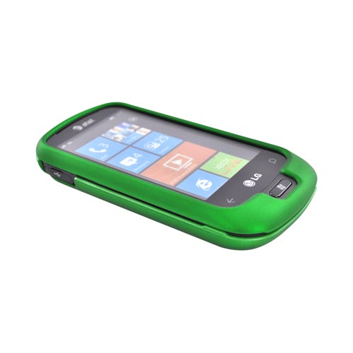LG Quantum C900 Rubberized Hard Case - Green