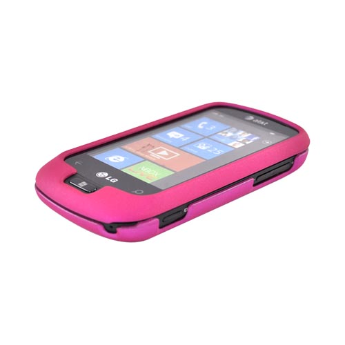 LG Quantum C900 Rubberized Hard Case - Hot Pink