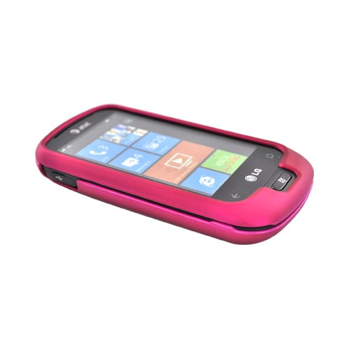 LG Quantum C900 Rubberized Hard Case - Rose Pink