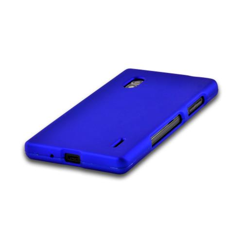 Blue Rubberized Hard Case for LG Optimus G (AT&T)