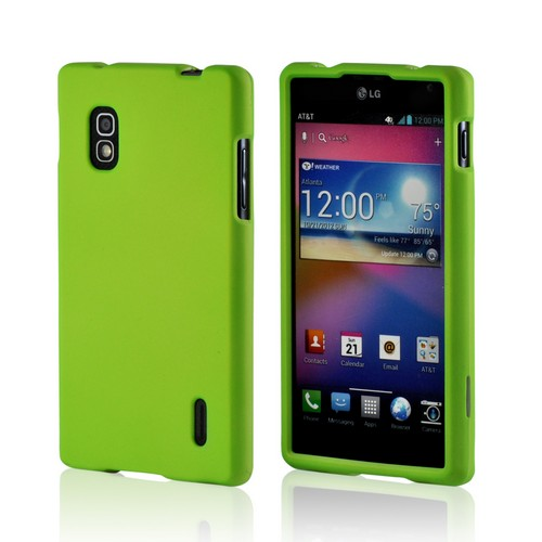 LG Neon Green Rubberized Hard Case For Optimus G (at&t)
