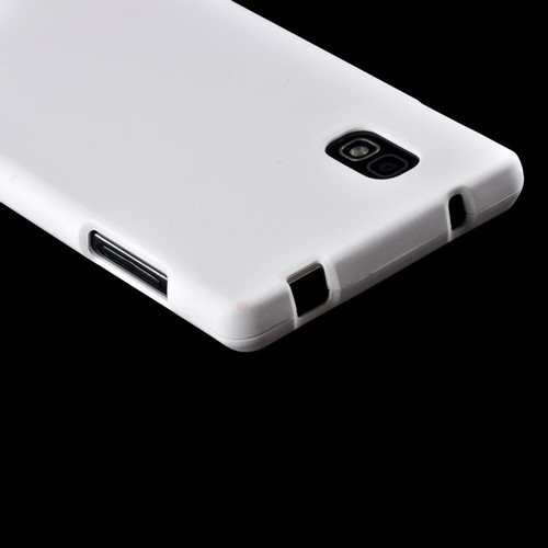 White Rubberized Hard Case for LG Optimus G (AT&T)