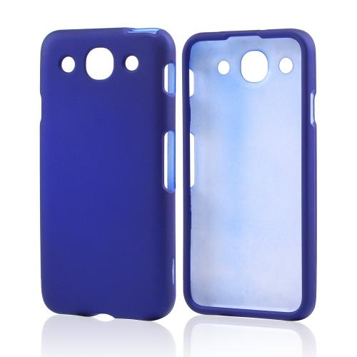 Blue Rubberized Hard Case for LG Optimus G Pro