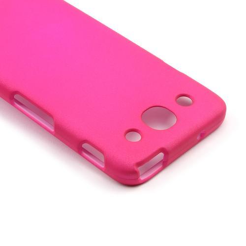 Hot Pink Rubberized Hard Case for LG Optimus G Pro