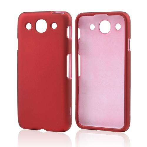 Red Rubberized Hard Case for LG Optimus G Pro