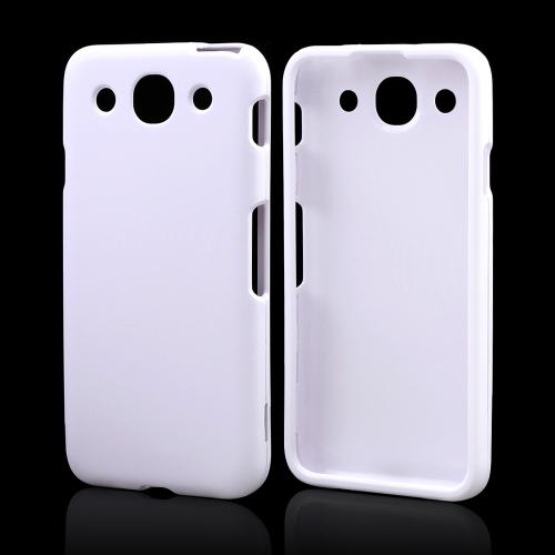 White Rubberized Hard Case for LG Optimus G Pro