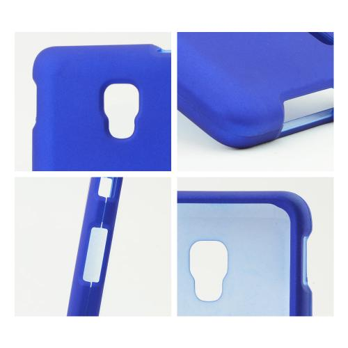 Blue Rubberized Hard Case for LG Optimus F6