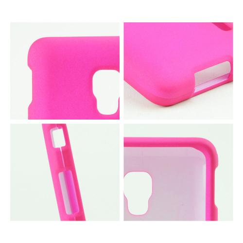 Hot Pink Rubberized Hard Case for LG Optimus F6