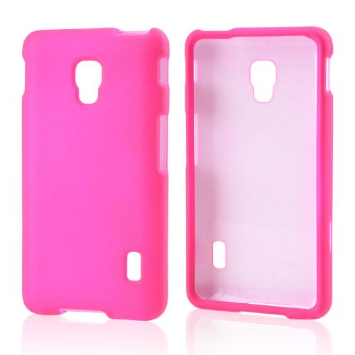 LG Hot Pink Rubberized Hard Case For Optimus F6