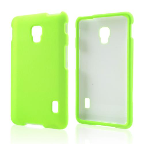 Neon Green Rubberized Hard Case for LG Optimus F6