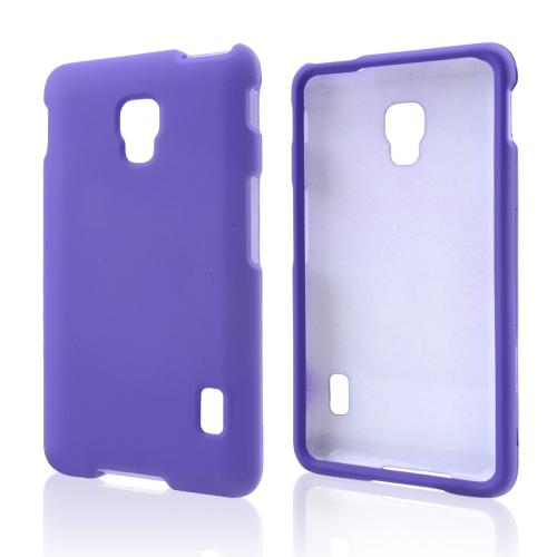 Purple Rubberized Hard Case for LG Optimus F6