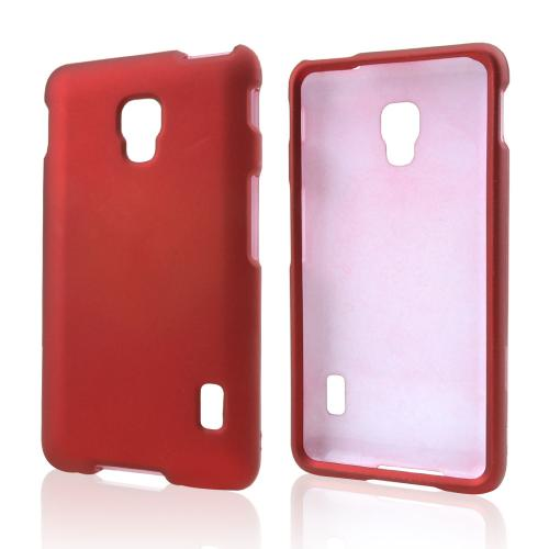 Red Rubberized Hard Case for LG Optimus F6