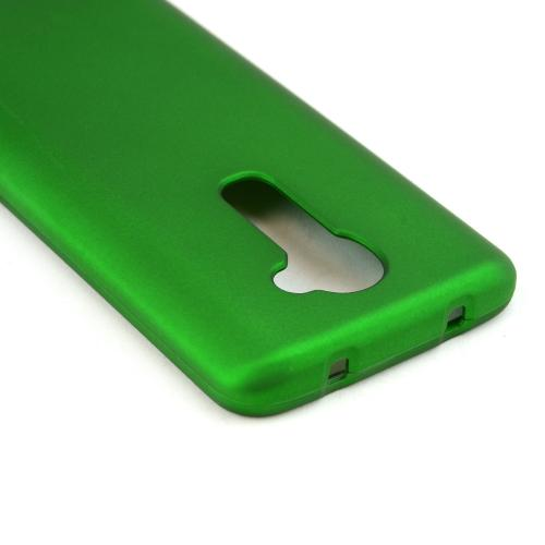 Green Rubberized Hard Case for LG G2 (Verizon Version)