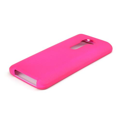 Hot Pink Rubberized Hard Case for LG G2 (Verizon Version)