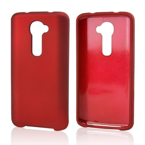 Red Rubberized Hard Case for LG G2 (Verizon Version)