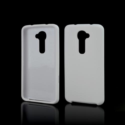 White Rubberized Hard Case for LG G2 (Verizon Version)