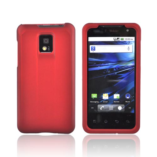 T-Mobile G2X Rubberized Hard Case - Red