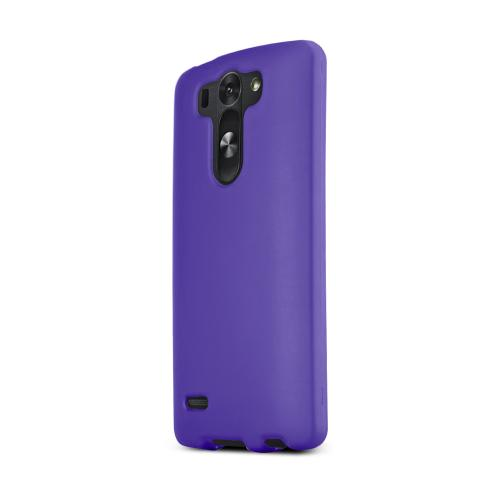 Purple LG G3 Mini Matte Rubberized Hard Case Cover; Perfect fit as Best Coolest Design Plastic Cases