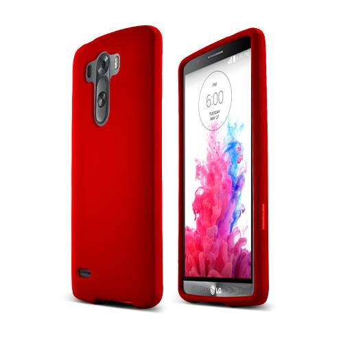 LG G3 Case,  [Red]  Slim & Protective Rubberized Matte Finish Snap-on Hard Polycarbonate Plastic Case Cover