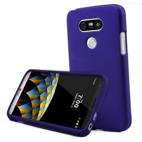 LG G5 Case, REDshield  [Purple] Slim & Protective Rubberized Matte Finish Snap-on Hard Polycarbonate Plastic Case Cover