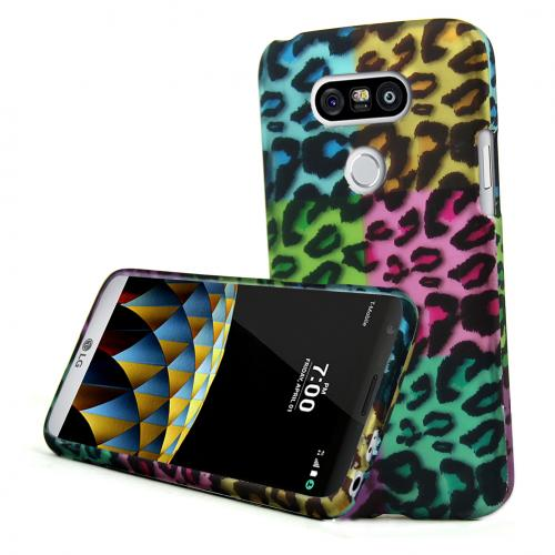 [LG G5] Case, REDshield  [Rainbow Leopard] Slim & Protective Rubberized Matte Finish Snap-on Hard Polycarbonate Plastic Case Cover