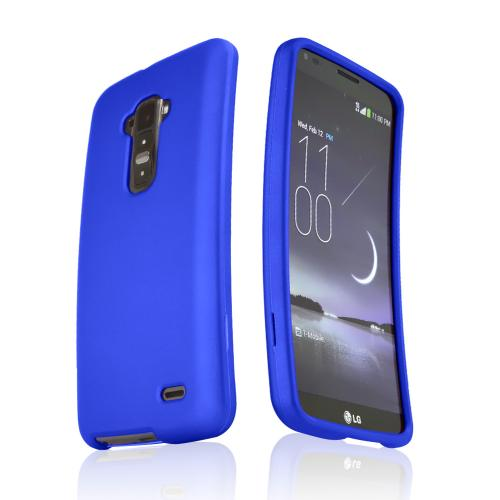 Blue Rubberized Hard Case for LG G Flex