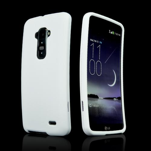 White Rubberized Hard Case for LG G Flex