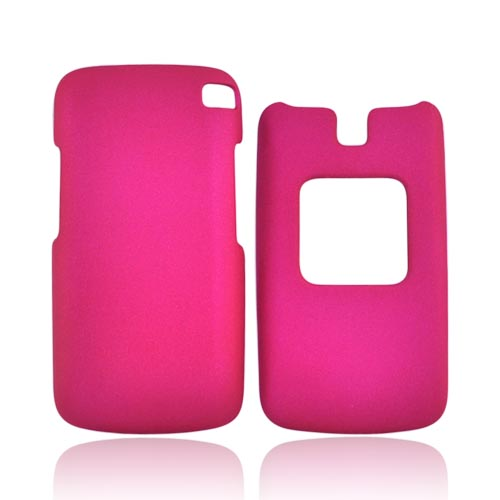 LG GS170 Rubberized Hard Case - Hot Pink