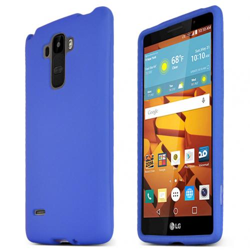 LG G Stylo Case, Blue Slim Grip Rubberized Matte Snap-on Hard Polycarbonate Plastic Protective Case