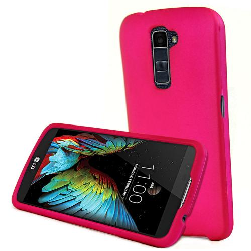 [LG K10] Case, REDshield [Hot Pink] Slim & Protective Rubberized Matte Finish Snap-on Hard Polycarbonate Plastic Case Cover