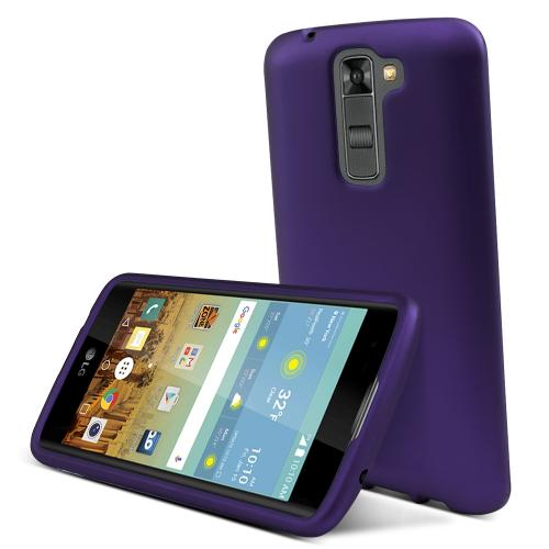 LG K7/ LG Tribute 5 Case,  [Purple]  Slim & Protective Rubberized Matte Finish Snap-on Hard Polycarbonate Plastic Case Cover
