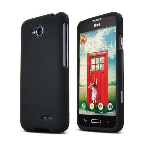 Black LG Optimus Exceed 2/ LG L70 Rubberized Hard Case Cover, Great Basic Protection!