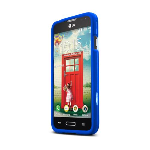 Blue LG Optimus Exceed 2/ LG L70 Rubberized Hard Case Cover, Great Basic Protection!