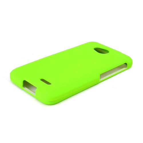 Green LG Optimus Exceed 2/ LG L70 Rubberized Hard Case Cover, Great Basic Protection!