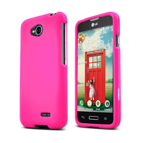 Hot Pink LG Optimus Exceed 2/ LG L70 Rubberized Hard Case Cover, Great Basic Protection!