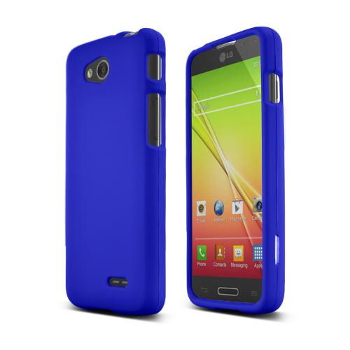 Blue LG L90 Matte Rubberized Hard Case Cover; Perfect fit as Best Coolest Design Plastic Cases