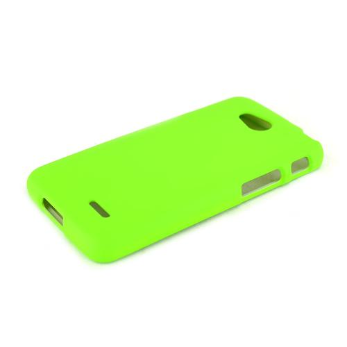 Neon Green LG L90 Matte Rubberized Hard Case Cover; Perfect fit as Best Coolest Design Plastic Cases