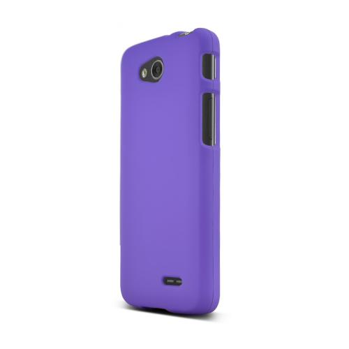 Purple LG L90 Matte Rubberized Hard Case Cover; Perfect fit as Best Coolest Design Plastic Cases