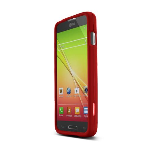 Red LG L90 Matte Rubberized Hard Case Cover; Perfect fit as Best Coolest Design Plastic Cases
