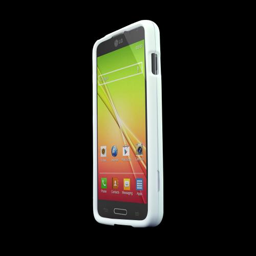 White LG L90 Matte Rubberized Hard Case Cover; Perfect fit as Best Coolest Design Plastic Cases
